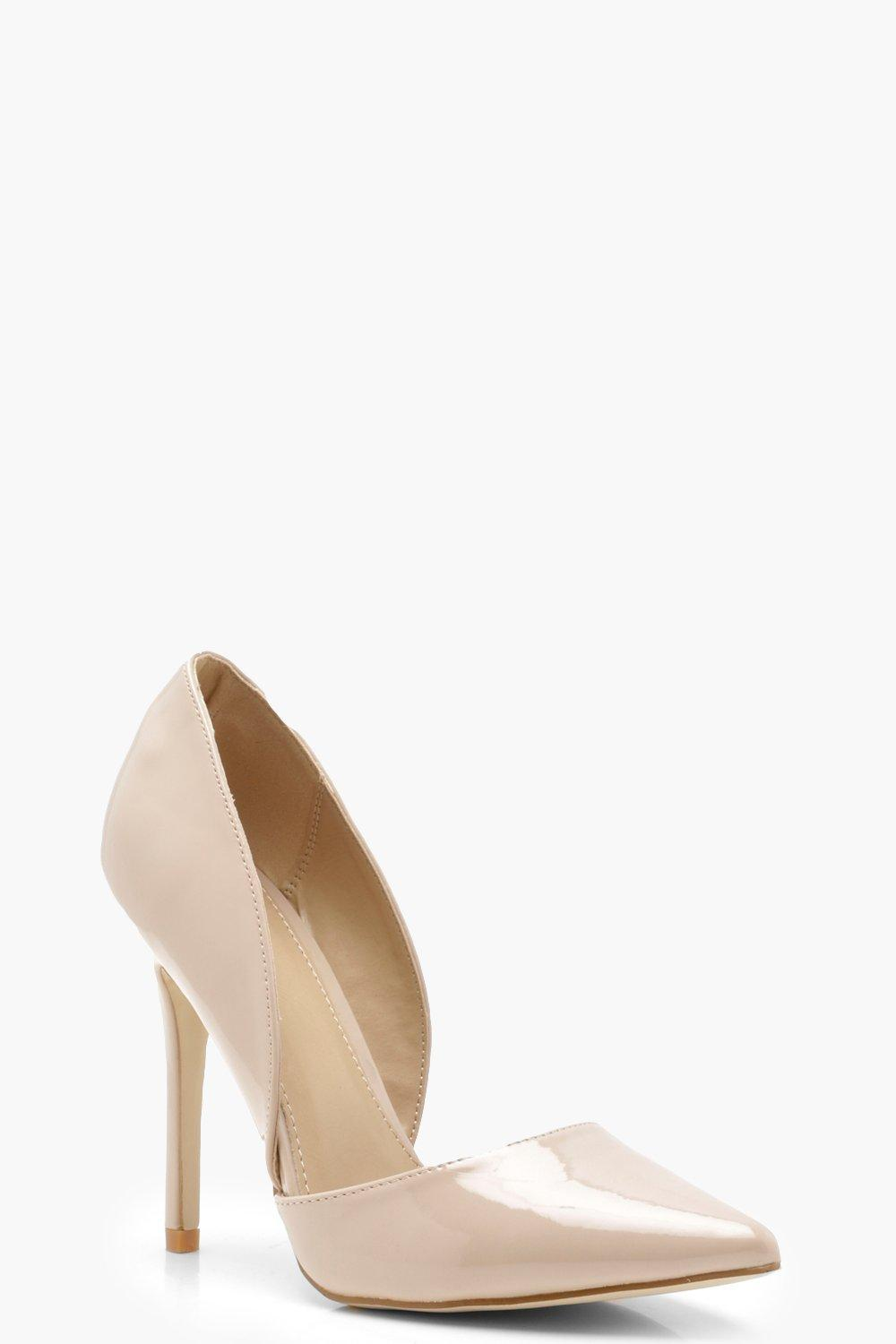 Eva Pointed Cut Side Court Heels 3lvpF