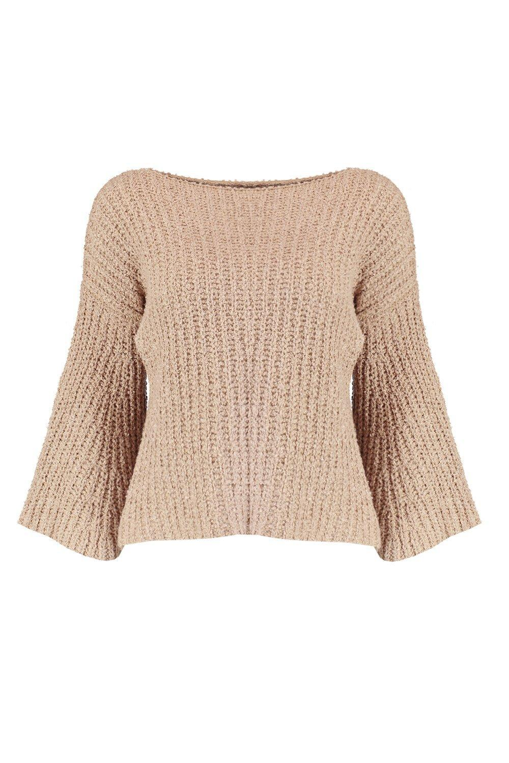 d90cbd94523d Gallery. Previously sold at  Boohoo · Women s Pink Jumpers Women s Flared  Sleeved ...