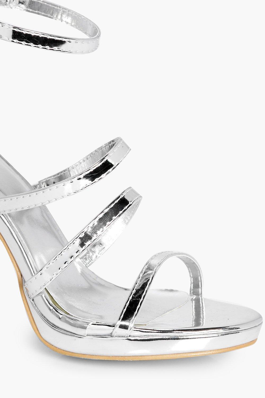 cc4a741201e Lyst - Boohoo Anna Knee High Gladiator Heel in Metallic