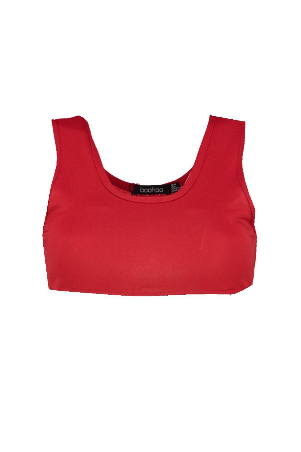 2d154b70b0 Boohoo Emma Extreme Crop Bralet in Red - Lyst