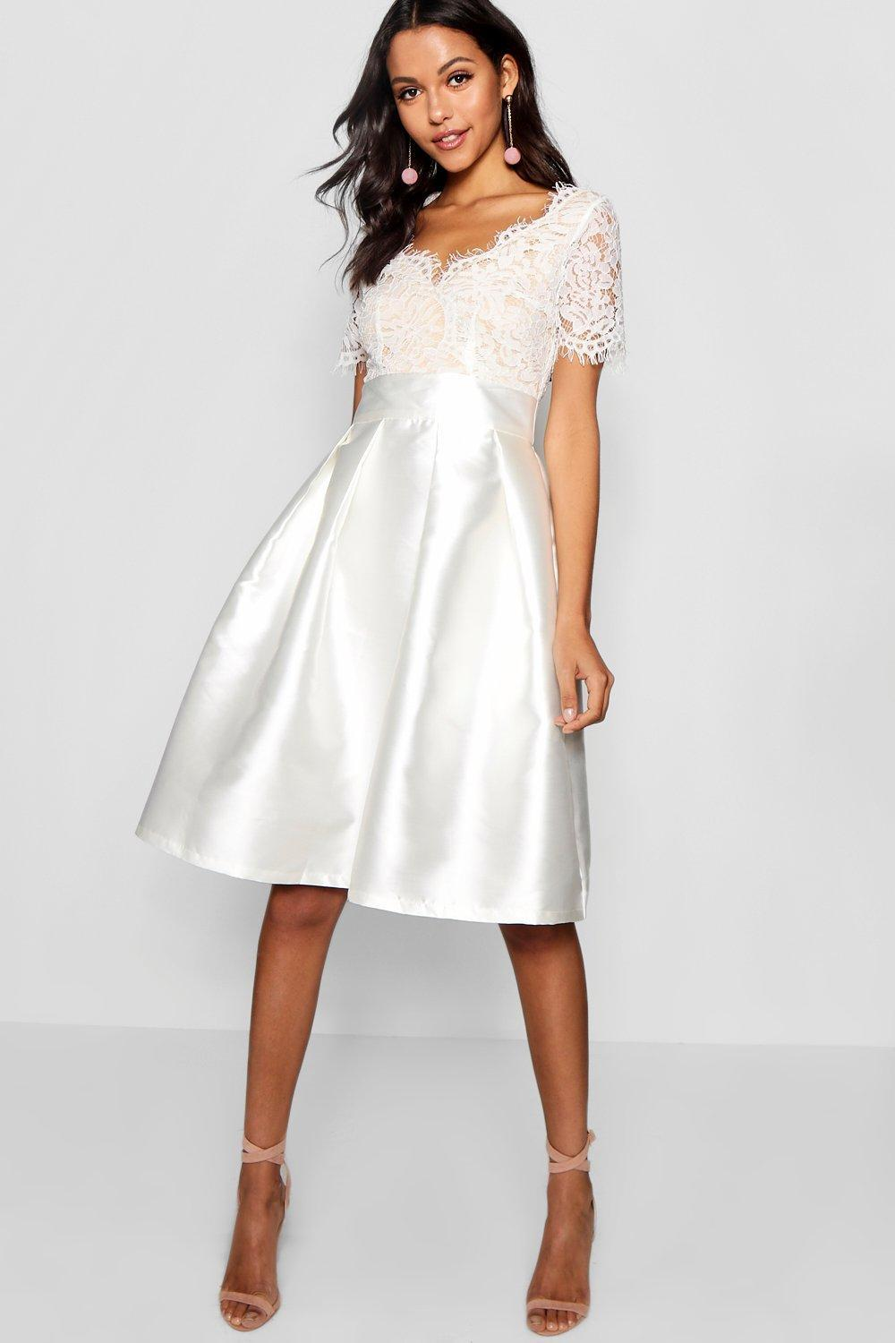 2402e12f4d68 Gallery. Previously sold at: Boohoo · Women's Skater Dresses Women's White  Cocktail Dresses
