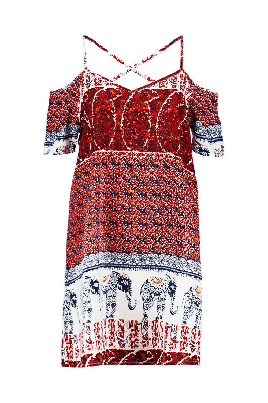 64dc6c34aa boohoo-designer-multi-Jody-Multi-Elephant-Print-Open-Shoulder-Shift-Dress .jpeg