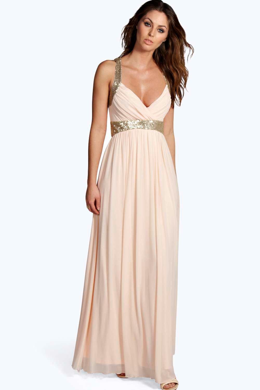 Wonderful Goddiva Womens Bandeau Sequin Maxi Dress Pink Old Hollywood Style