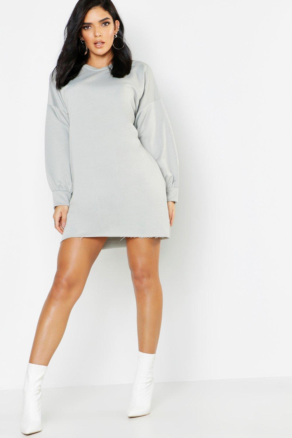ff5f918591a Lyst - Boohoo Beverly Hills Front   Back Print Sweat Dress in Gray