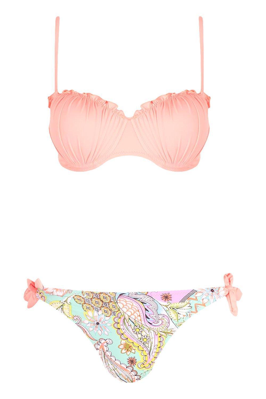 6e5275412799f Boohoo Underwired Paisley Bikini - Lyst