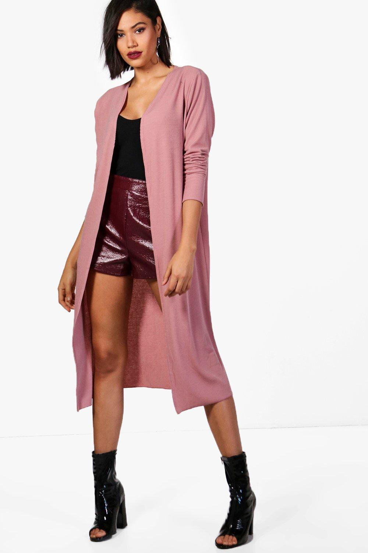 Boohoo Holly Maxi Cardigan in Pink   Lyst