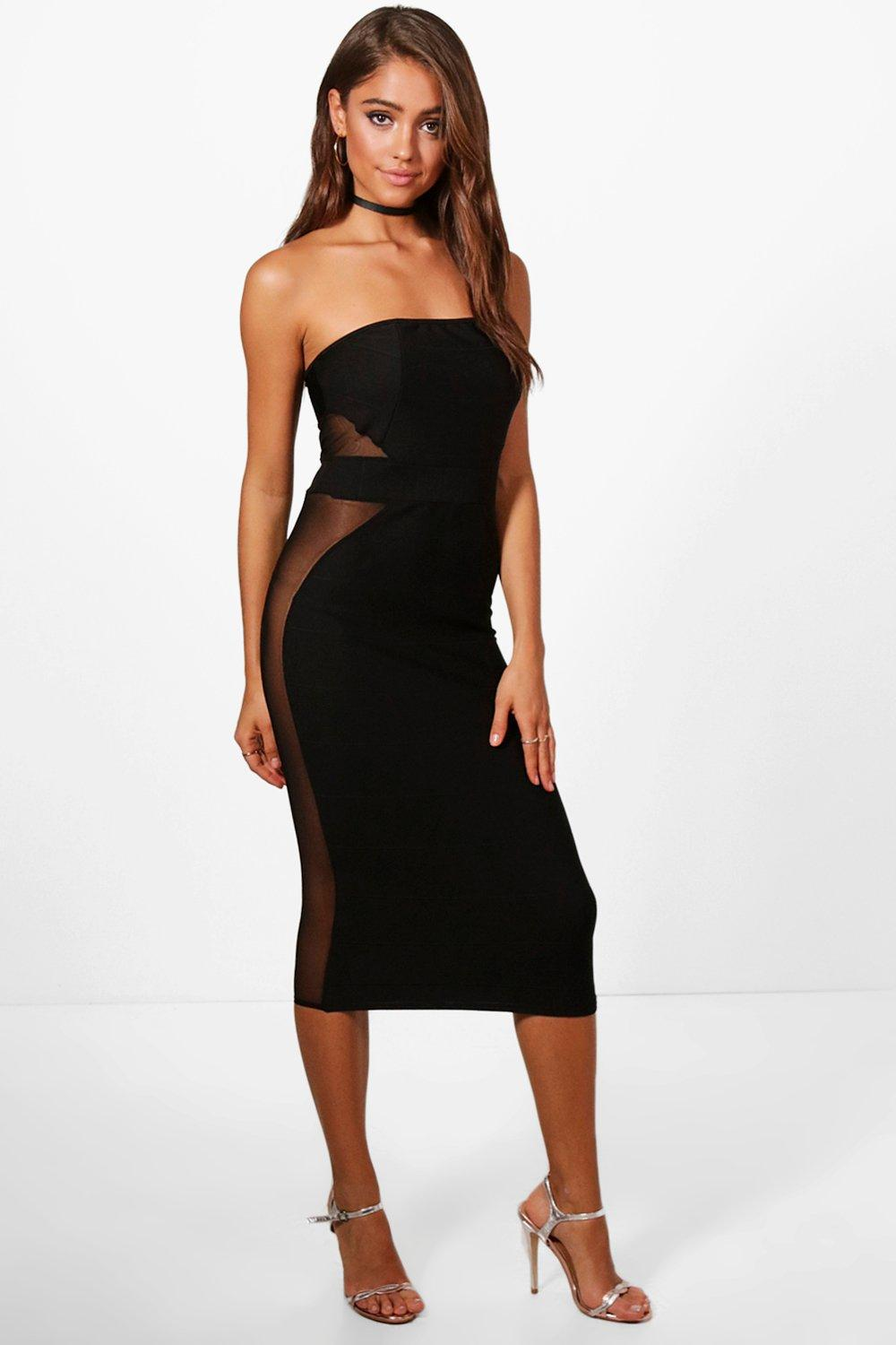 c2ddd2b8aa04 Gallery. Previously sold at: Boohoo · Women's Bandeau Dresses ...