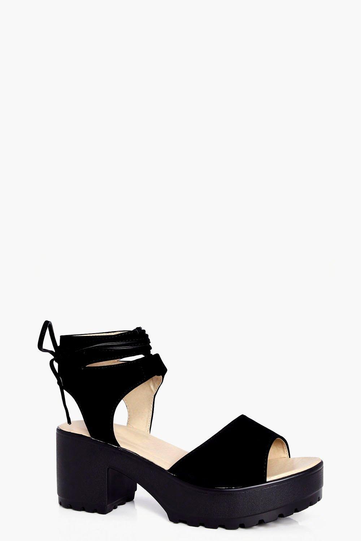 Peeptoe Wrap Over Cleated Sandals El Envío Libre De Explorar hIjbHVg