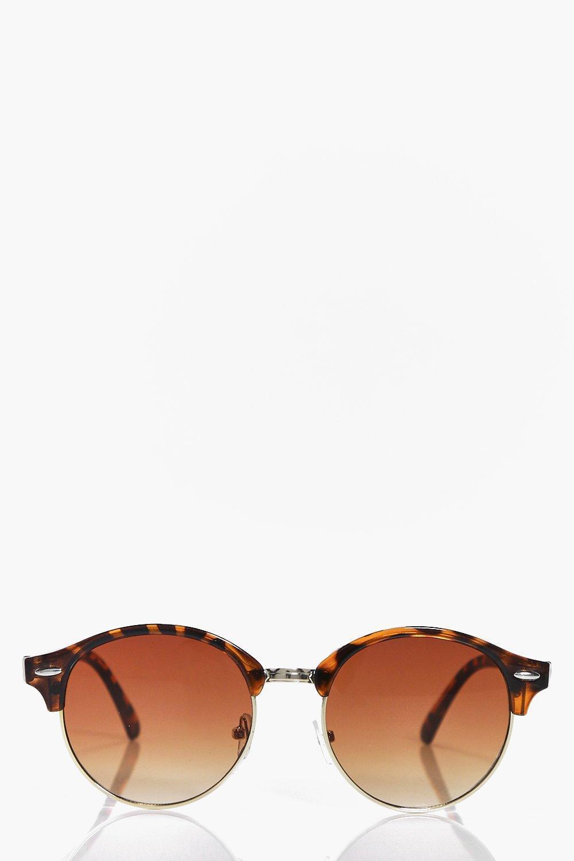 Boohoo Diana Half Frame Round Wayfarer Fashion Glasses in ...