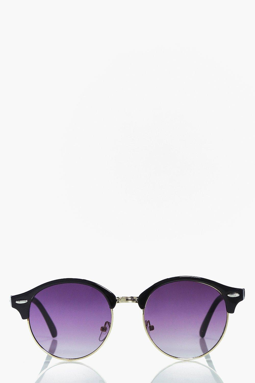 Wayfarer Glasses Half Frame : Boohoo Diana Half Frame Round Wayfarer Sunglasses in Gray ...