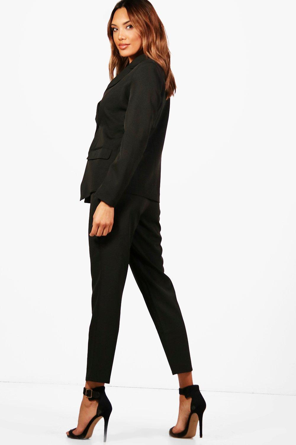 c50dabd726f6 Boohoo Straight Leg Woven Suit Trouser in Pink - Lyst