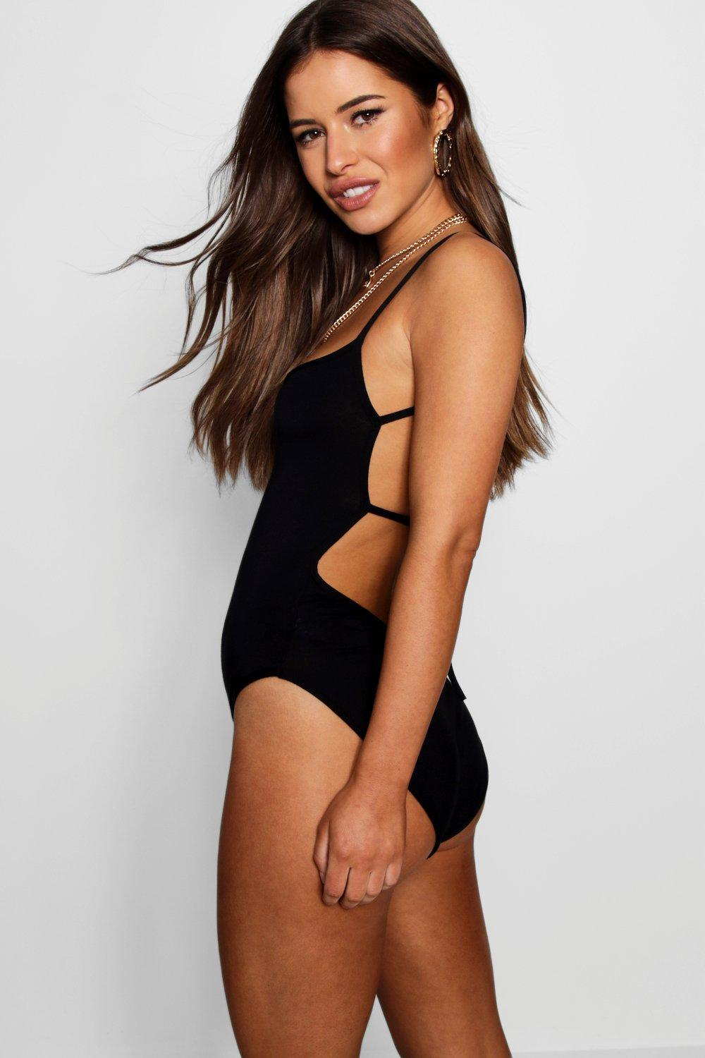 Boohoo Petite Tie Back High Neck Strappy Bodysuit Pre Order For Sale Popular Sale Online Clearance Get Authentic 0MqAMe8