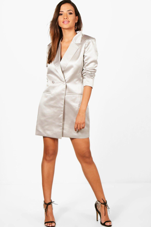 11279581daf7 Boohoo Metallic Blazer Dress in Metallic - Lyst