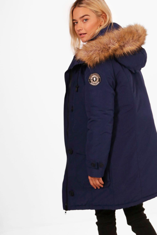 Boohoo Leah Artic Padded Jacket In Black Lyst
