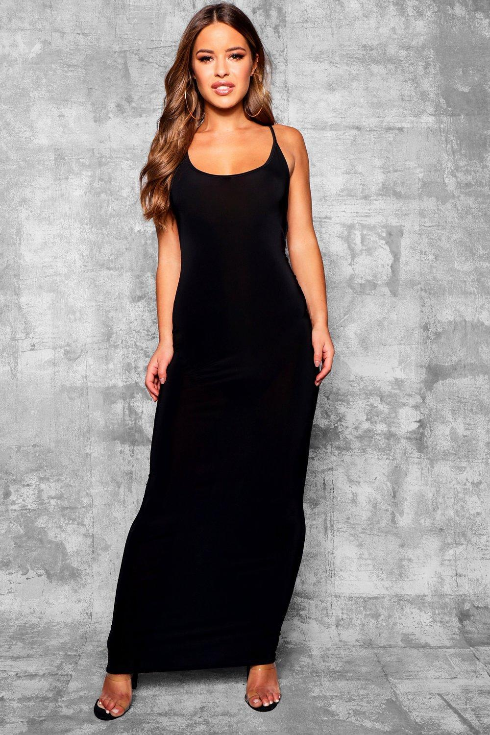 Boohoo Petite Skinny Open Back Detail Maxi Dress Sale Free Shipping qhgNWTI
