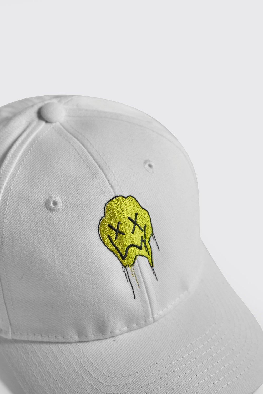 13bd4c28b4157 BoohooMAN Quavo Face Embroidered Cap in White for Men - Lyst
