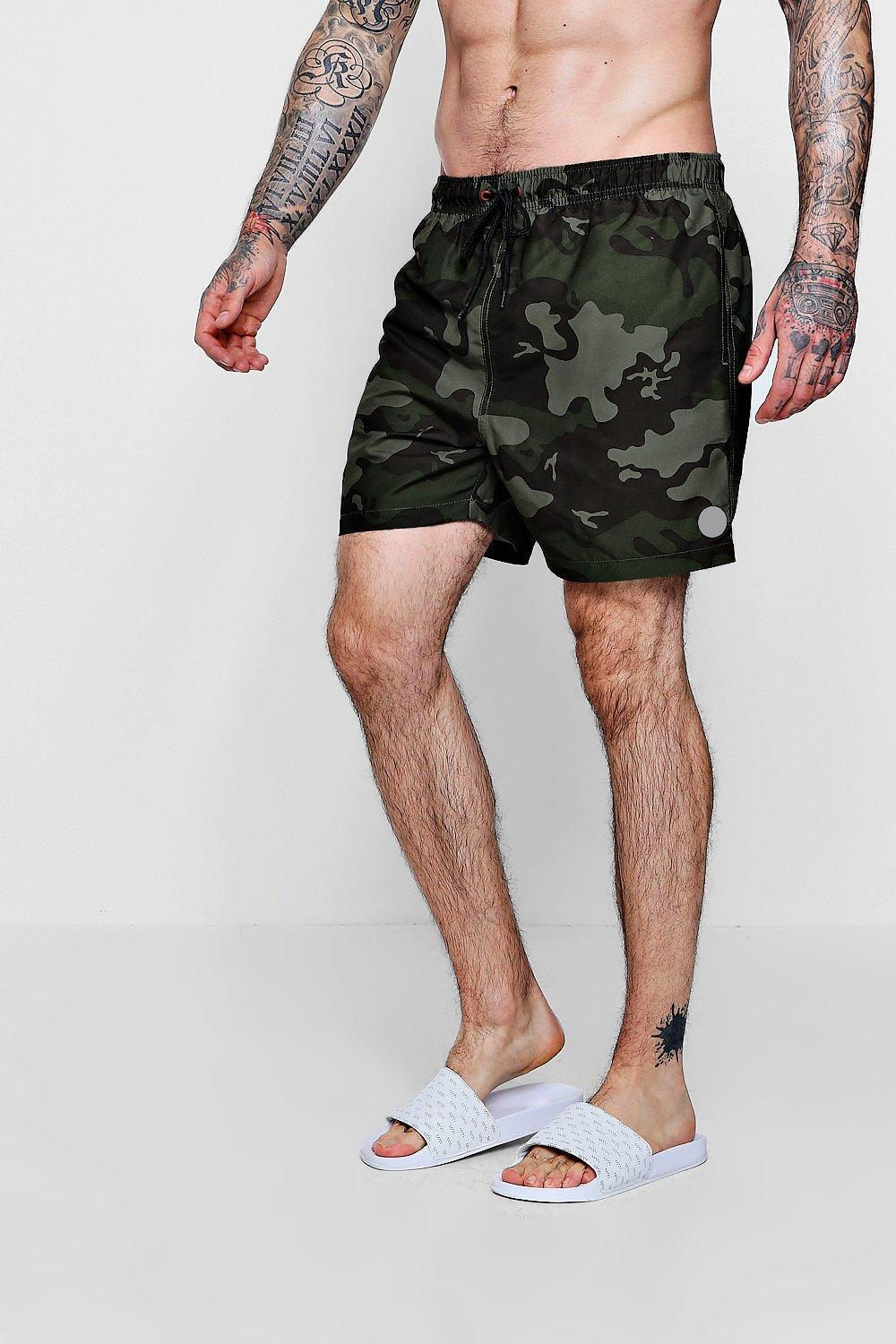 Boohoo Lyst Men For Shorts Swim Camo Print txChrsQd