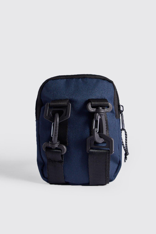 eaa94ff9e2e6 BoohooMAN - Blue Man Branded Mini Crossbody for Men - Lyst. View fullscreen