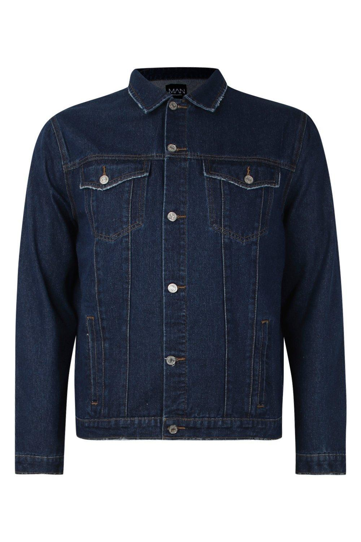 d8c408fe Boohoo Big And Tall Regular Fit Denim Western Jacket in Blue for Men ...