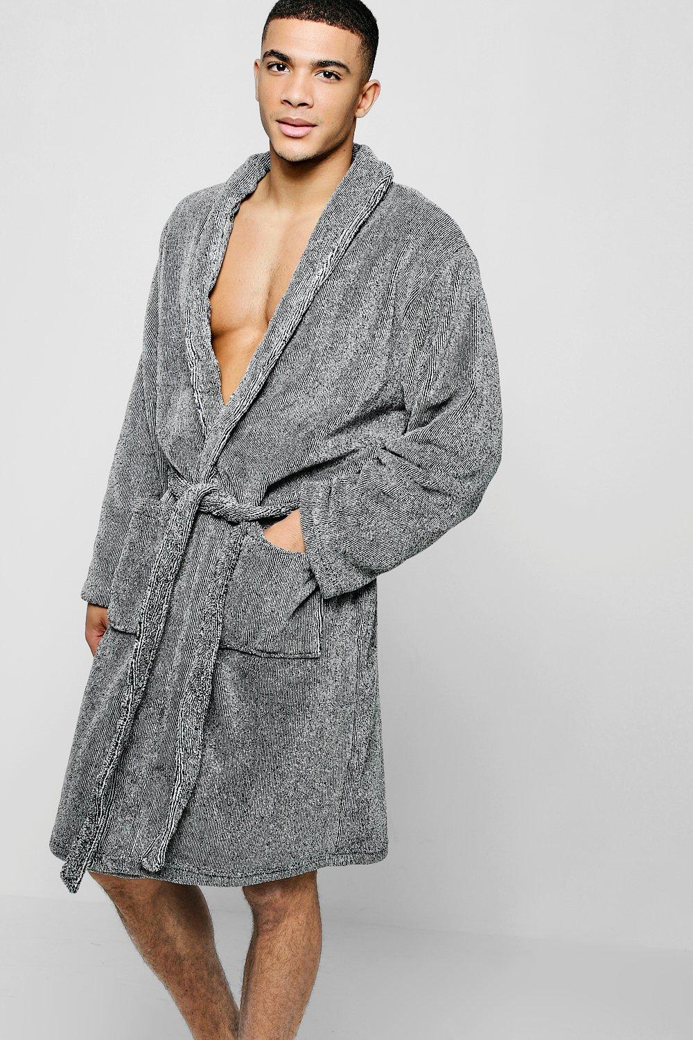 85cfbbc7f8 Boohoo Two Tone Hooded Robe in Gray for Men - Save 27.77777777777777 ...