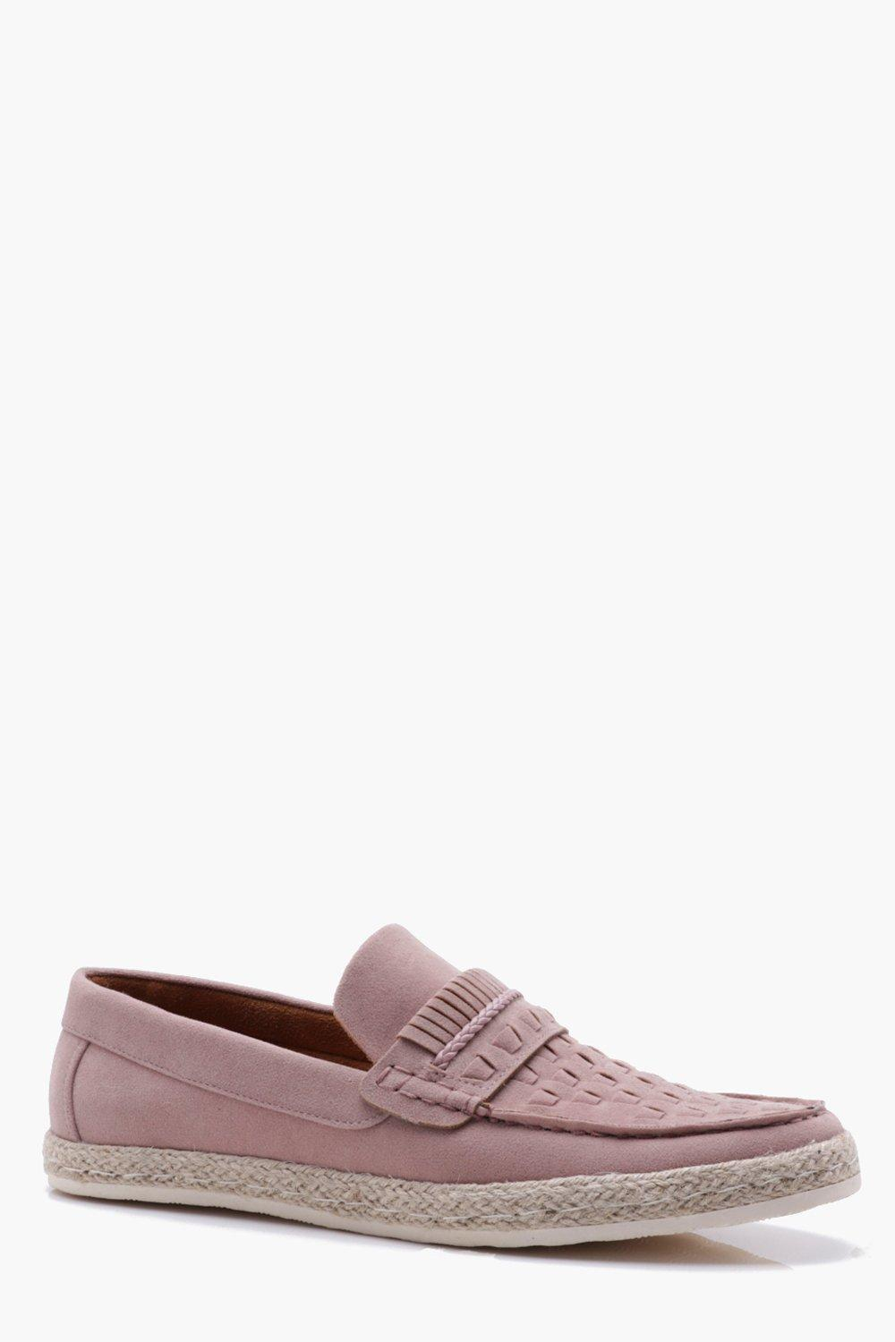 boohooMAN weave loafers in pink free shipping classic for sale free shipping quality free shipping outlet affordable XG6RTbk