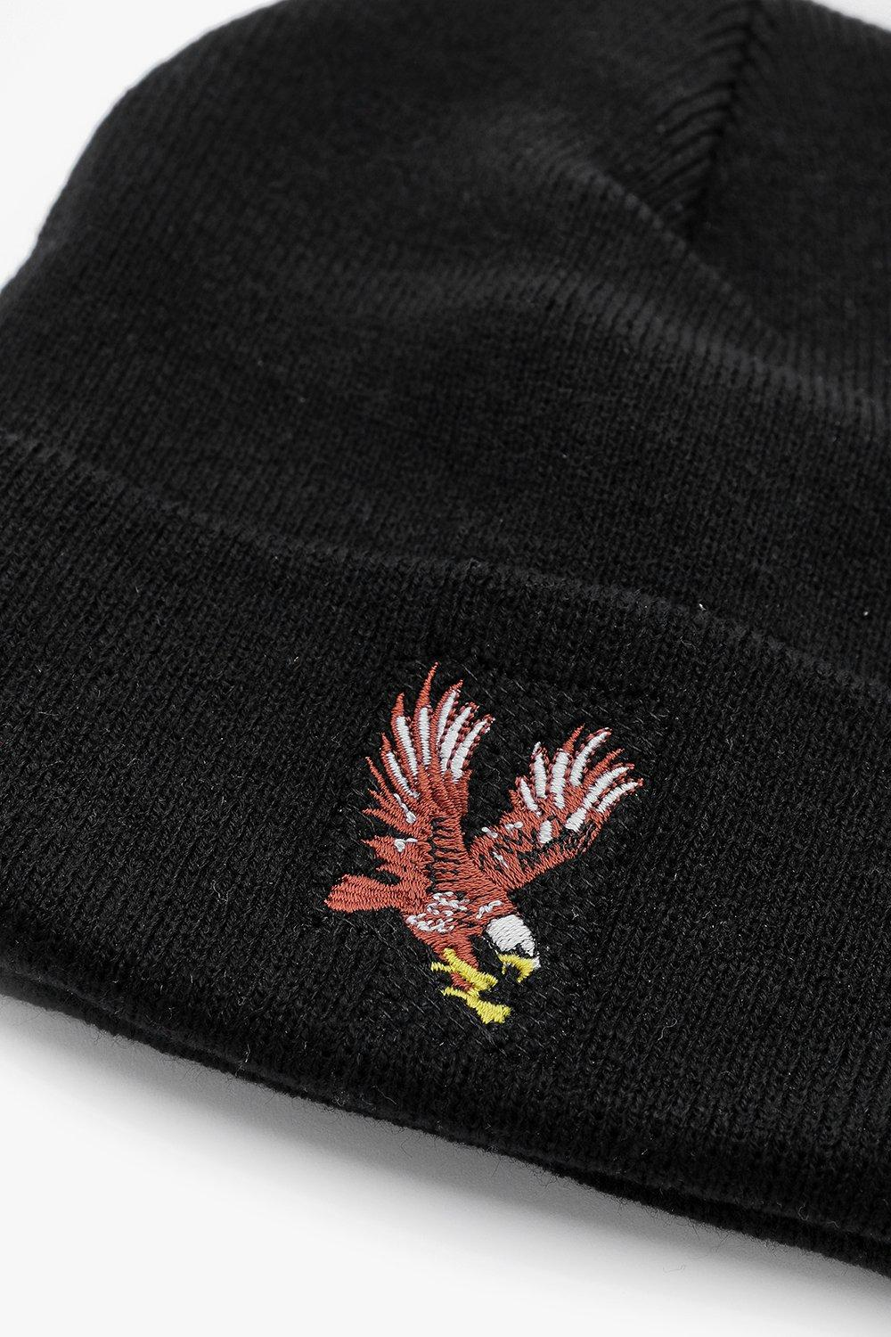 079fb72bbbd ... Eagle Embroidery Beanie for Men - Lyst. View fullscreen