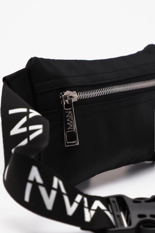 74ce40589910 BoohooMAN Mini Man Branded Cross Body Bag in Black for Men - Lyst