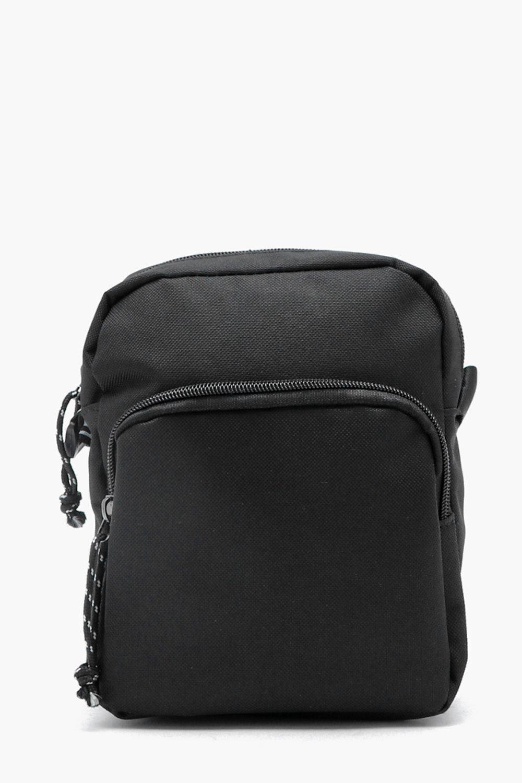 6e1c467dd185 Lyst - BoohooMAN Man Logo Printed Strap Cross Body Bag in Black for Men