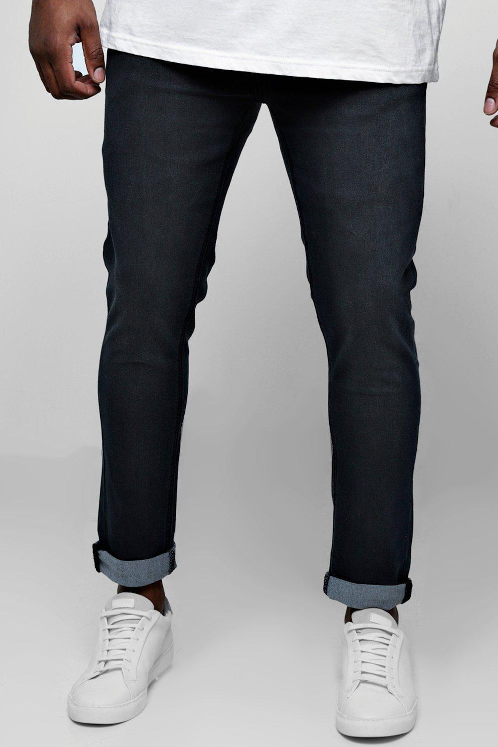 b547ac49fd30 Lyst - Boohoo Big And Tall Skinny Fit Jeans With Turn Up for Men