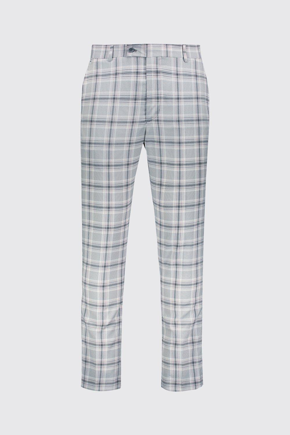 2d1eb39469f1a BoohooMAN - Gray Pastel Check Detail Skinny Cropped Trousers for Men -  Lyst. View fullscreen