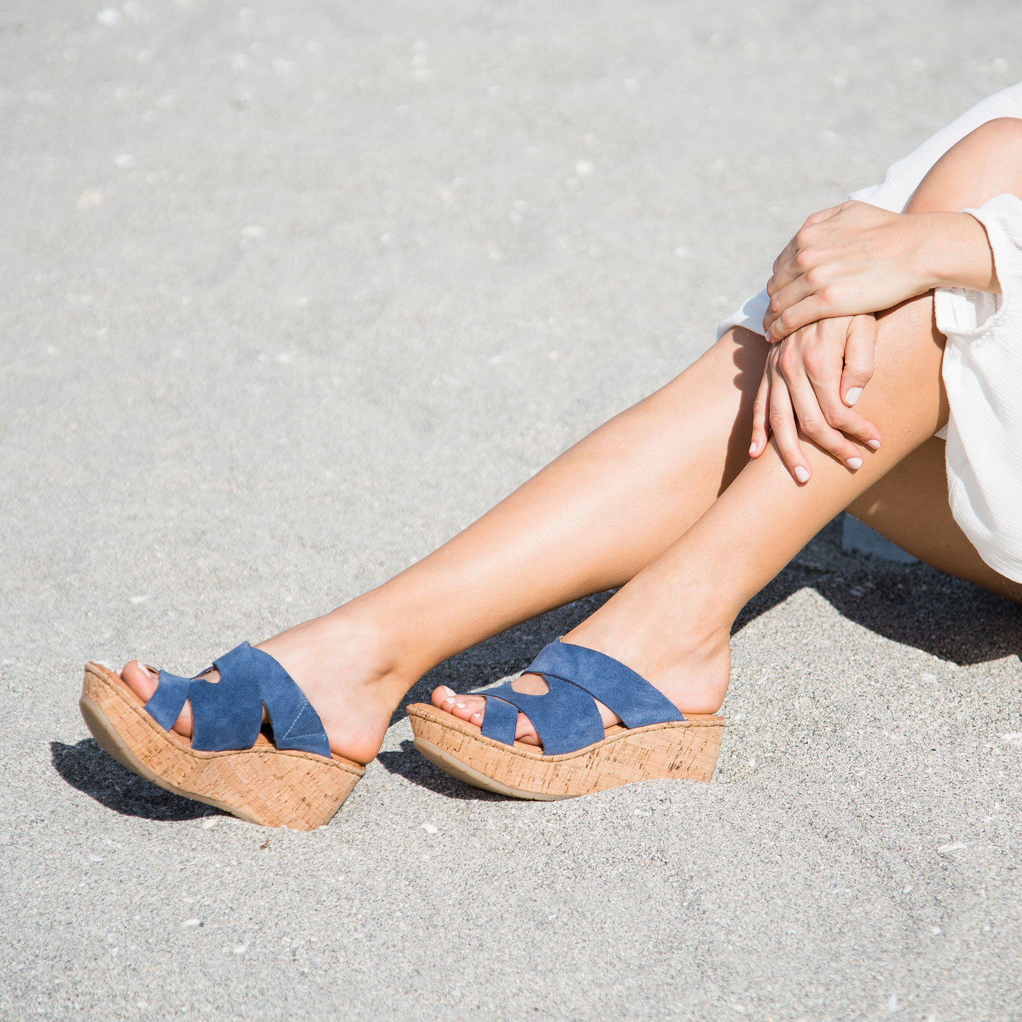 Born Padron Wedge Sandals
