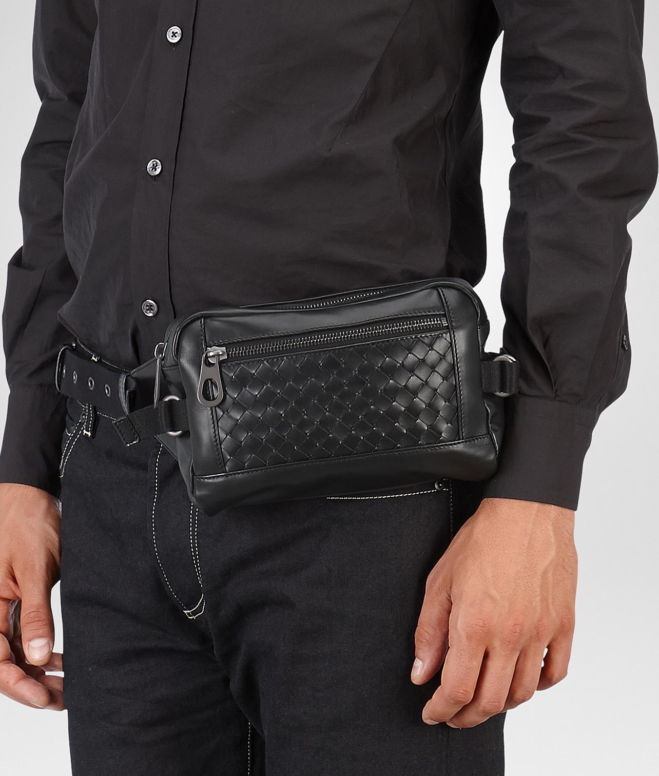 Bottega Veneta Belt Bag In Nero Intrecciato Calf in Black for Men - Lyst d45f334355c26