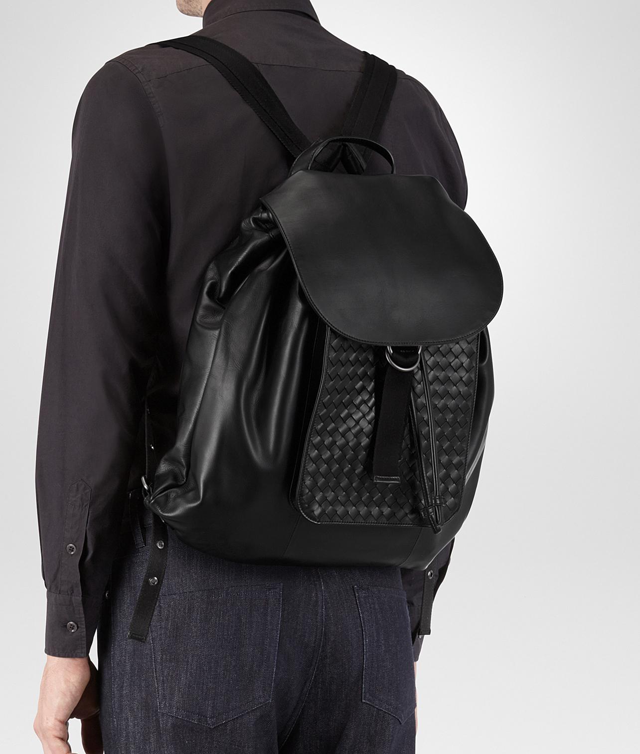 42e3f452af20 Lyst - Bottega Veneta Nero Intrecciato Calf Backpack in Black for Men