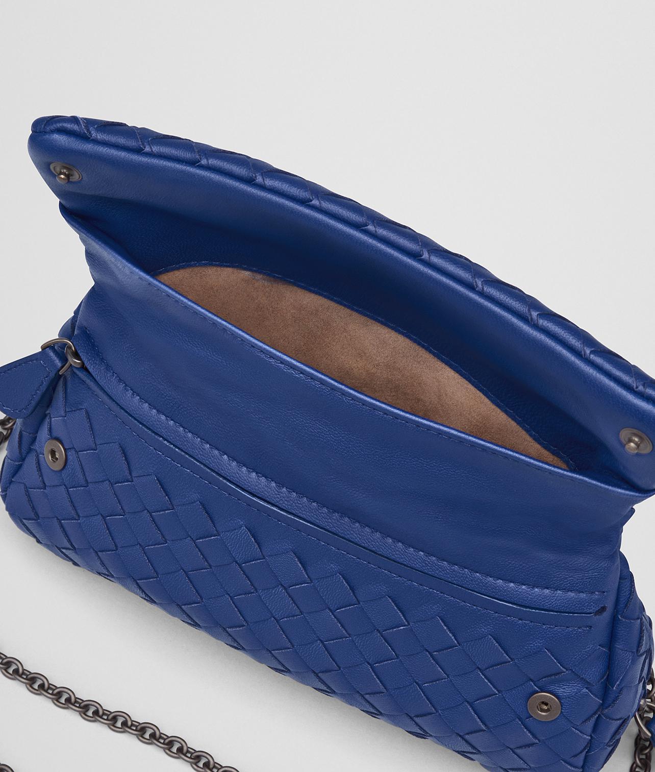 0336cfe827 Lyst - Bottega Veneta Cobalt Intrecciato Nappa Mini Messenger Bag in ...