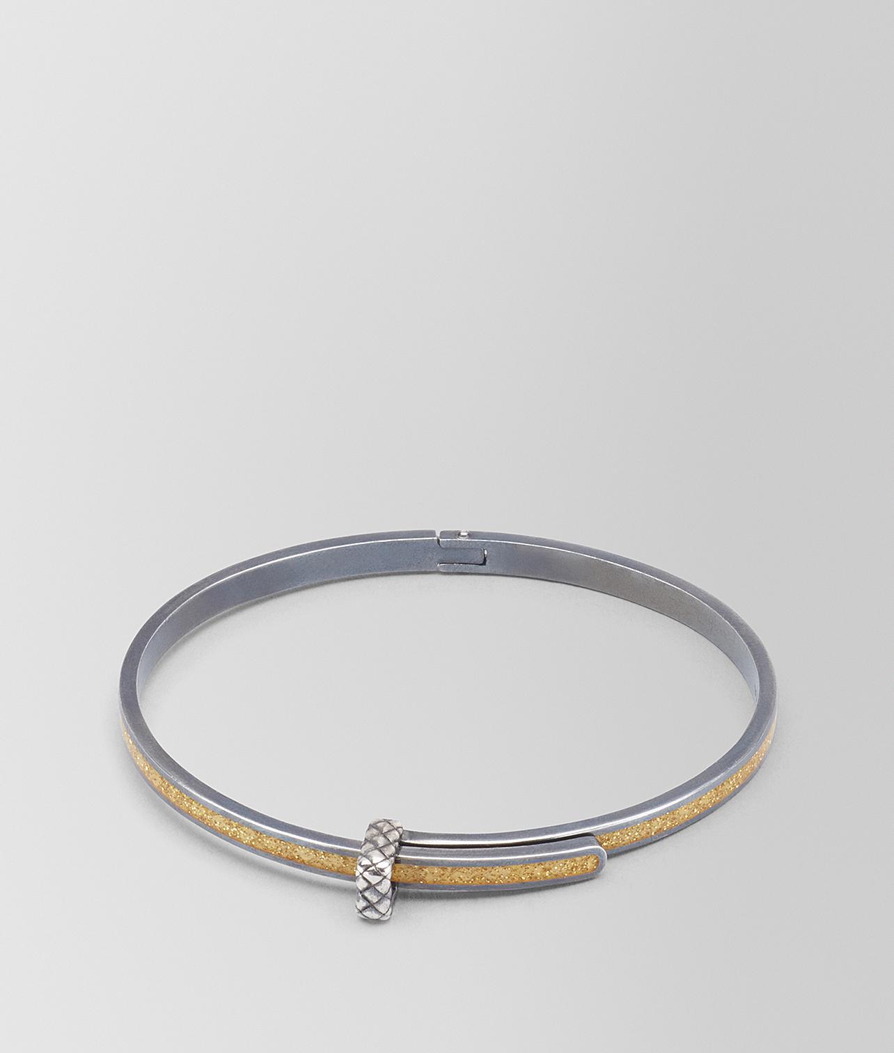 Bottega Veneta gold cubic zirconia oxidized silver bracelet - Metallic aFZjwLKsrE