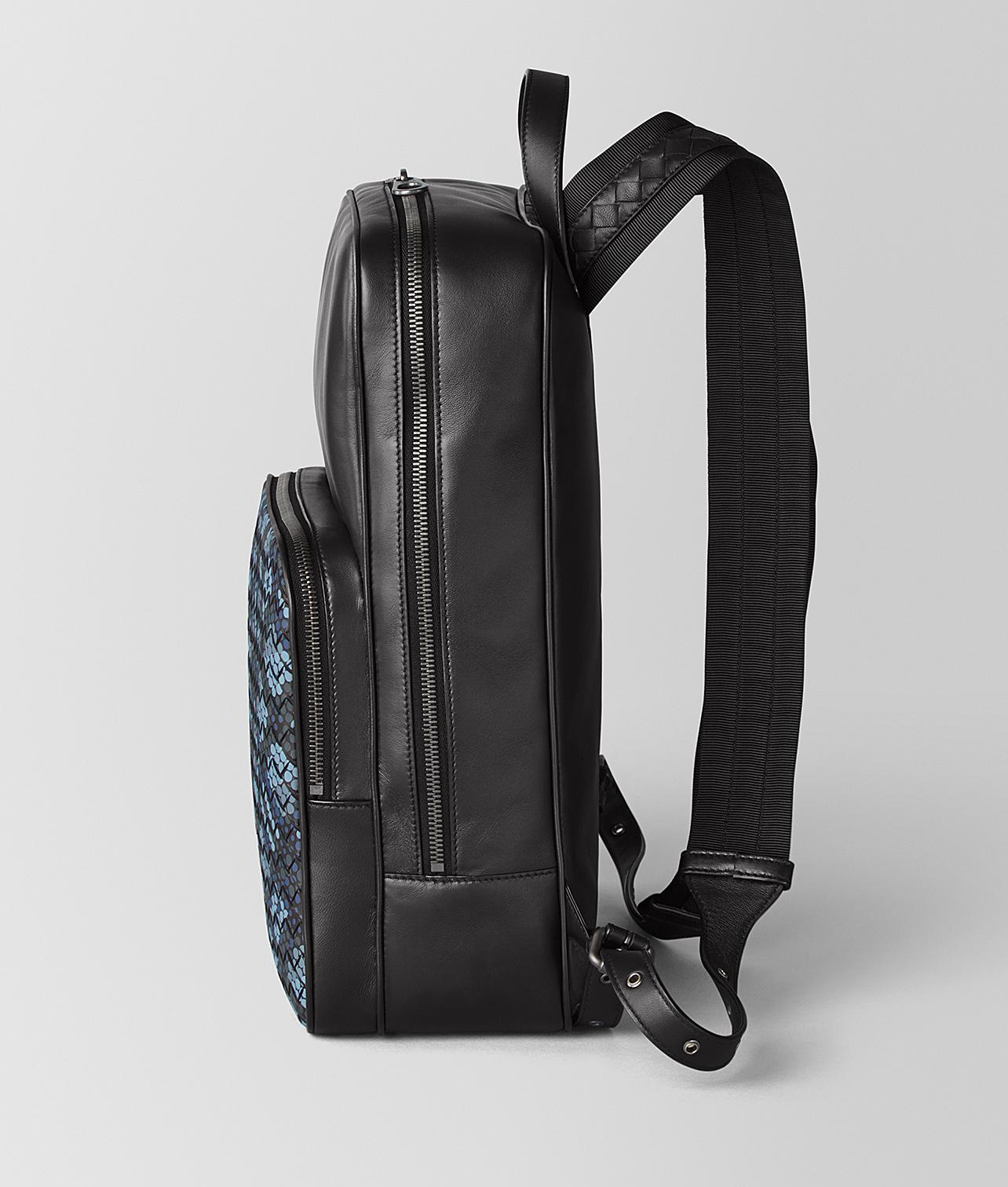 Lyst - Bottega Veneta Medium Double Brick Backpack In Tartan Dots in Black  for Men 553e0e6b81bf1