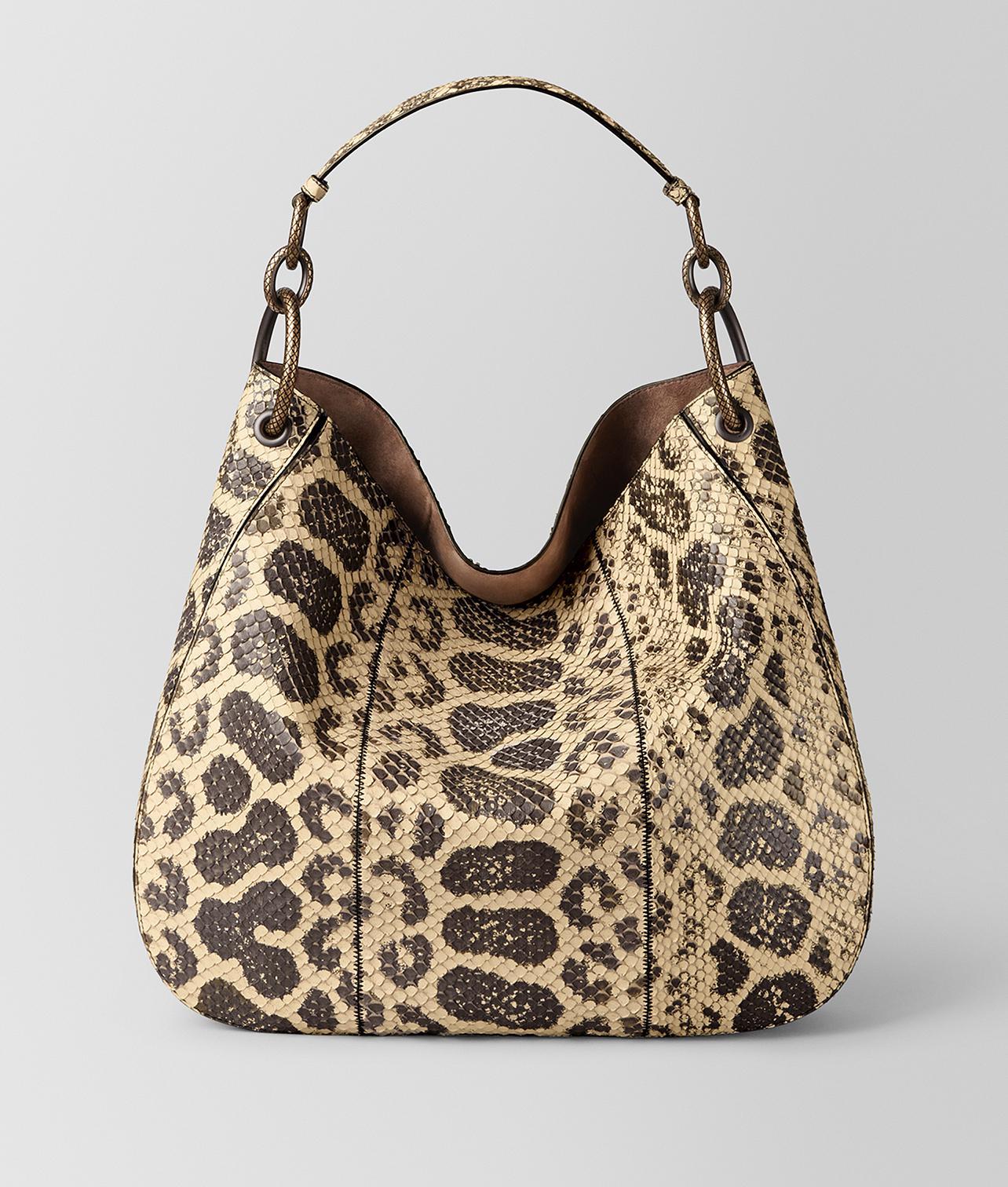 834da5b57a5 Bottega Veneta. Women s Natural Anaconda Loop Bag