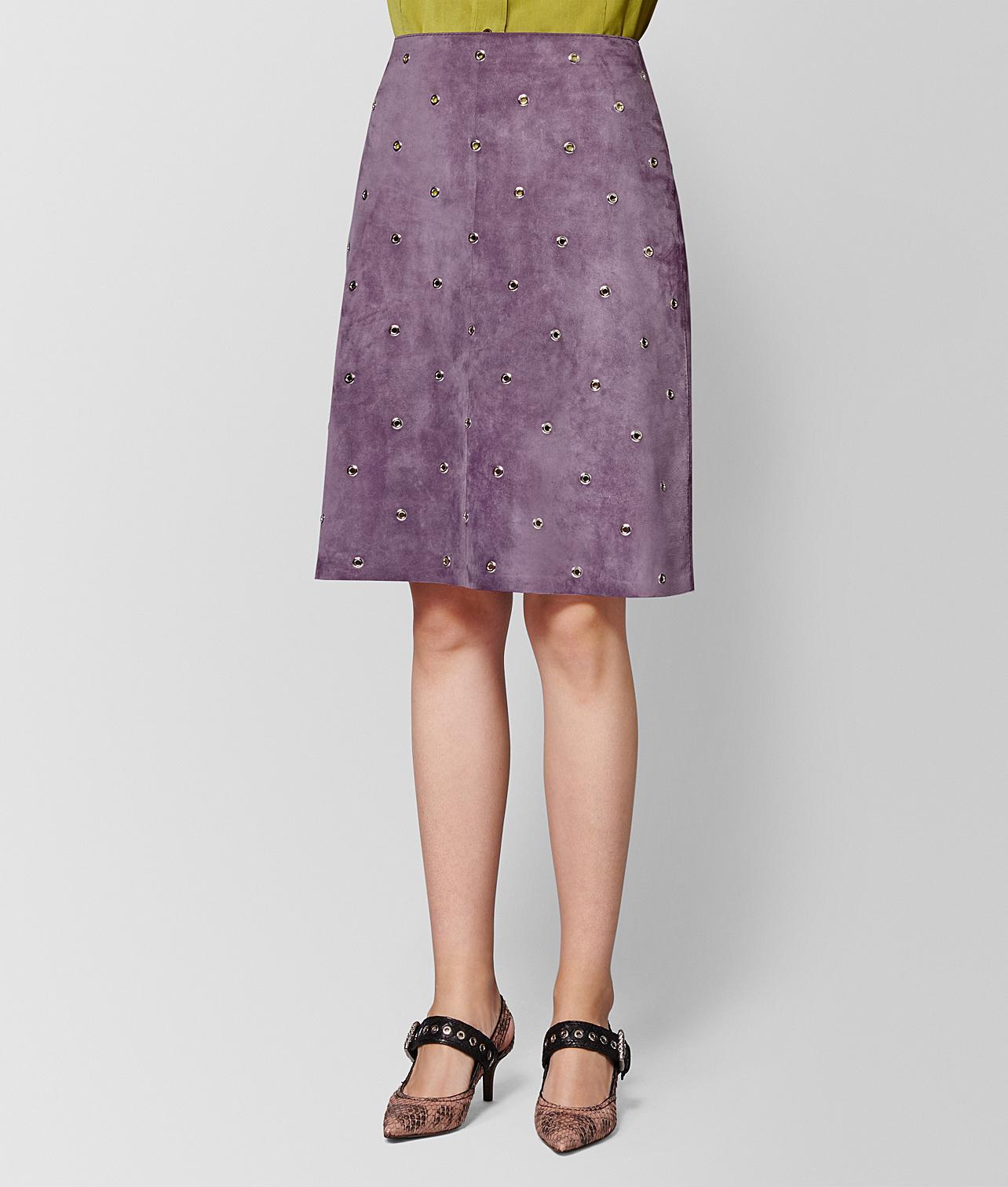 50b6f4752c Bottega Veneta Lilac Suede Skirt in Purple - Lyst