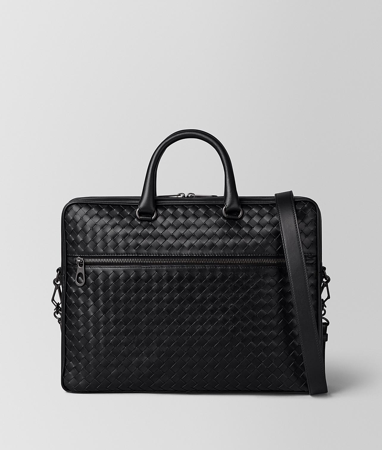 Bottega Veneta Nero Intrecciato Vn Small Briefcase in Black for Men ... a91ef7c103da0