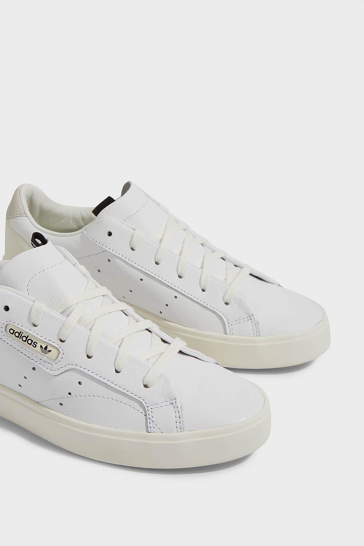 f0ee89c09 adidas Originals Sleek Leather Trainers - Lyst