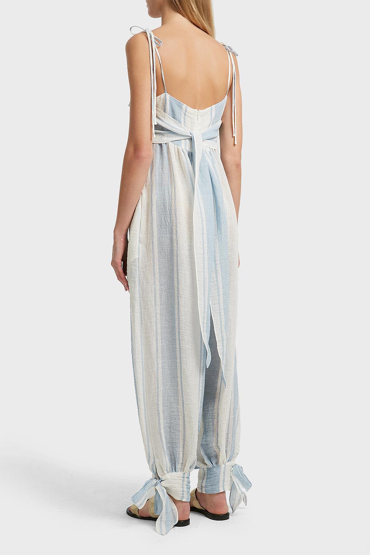 3d339766ce Three Graces London Reed Striped Linen-blend Jumpsuit - Lyst