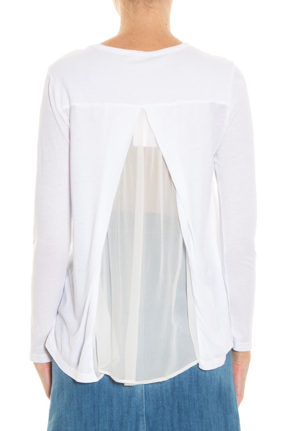 Clu silk back t shirt in white lyst for Silk white t shirt