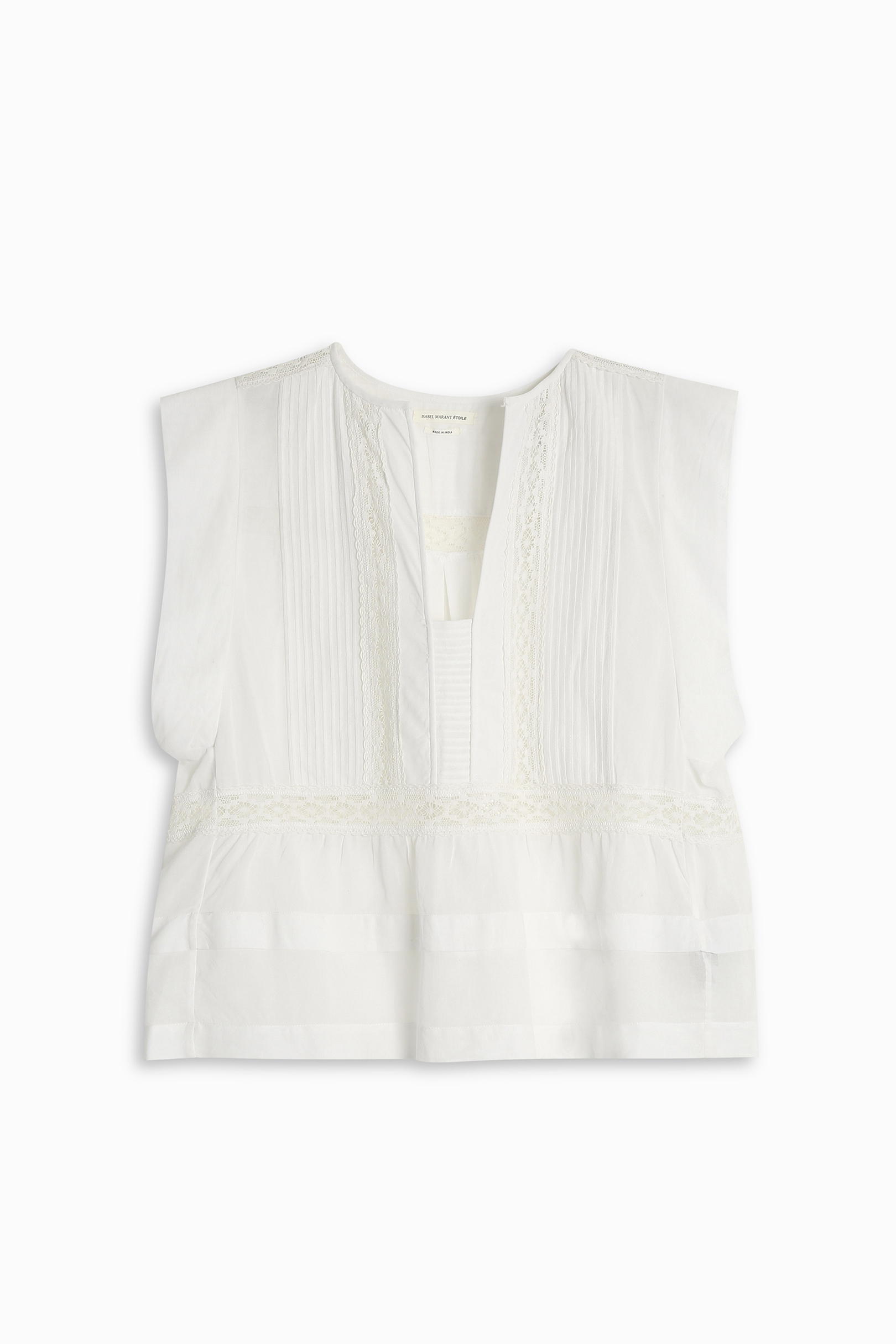 Free shipping and guaranteed authenticity on Isabel Marant Lace Blouse Size S Eu 38 White SweaterAuthentic ISABEL MARANT Lace Top, Size S, EU