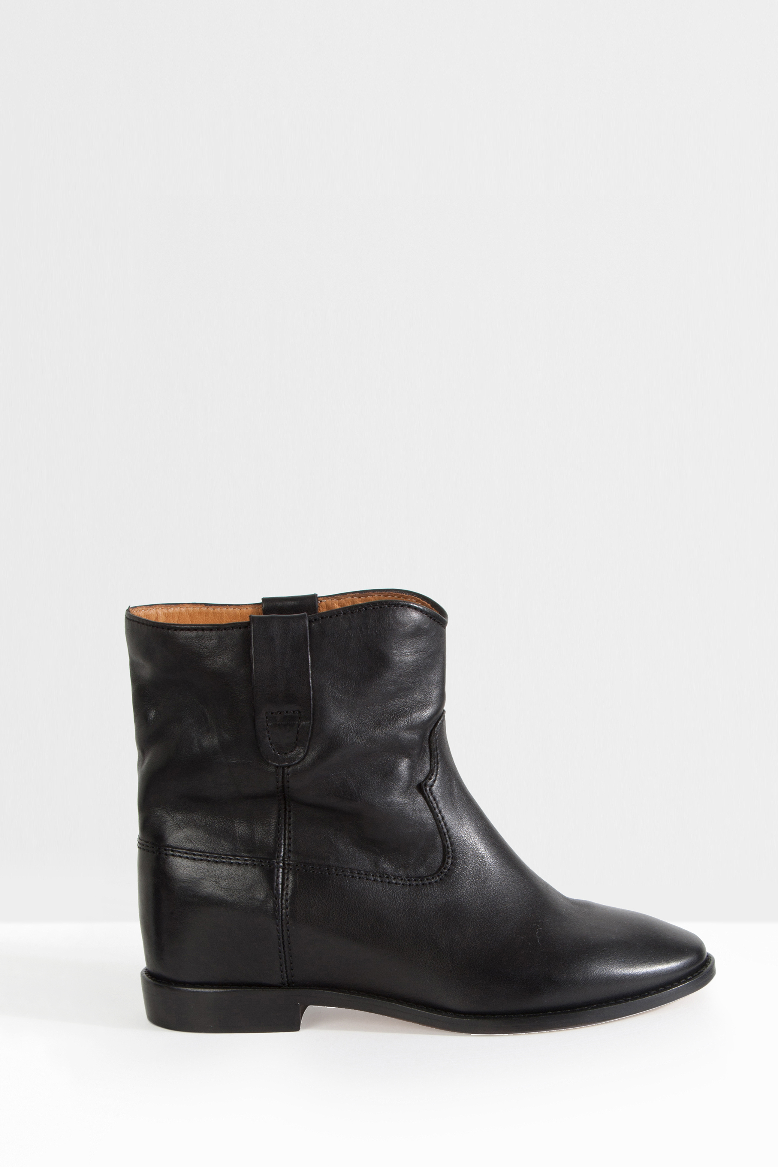 toile isabel marant crisi leather ankle boots in black lyst. Black Bedroom Furniture Sets. Home Design Ideas