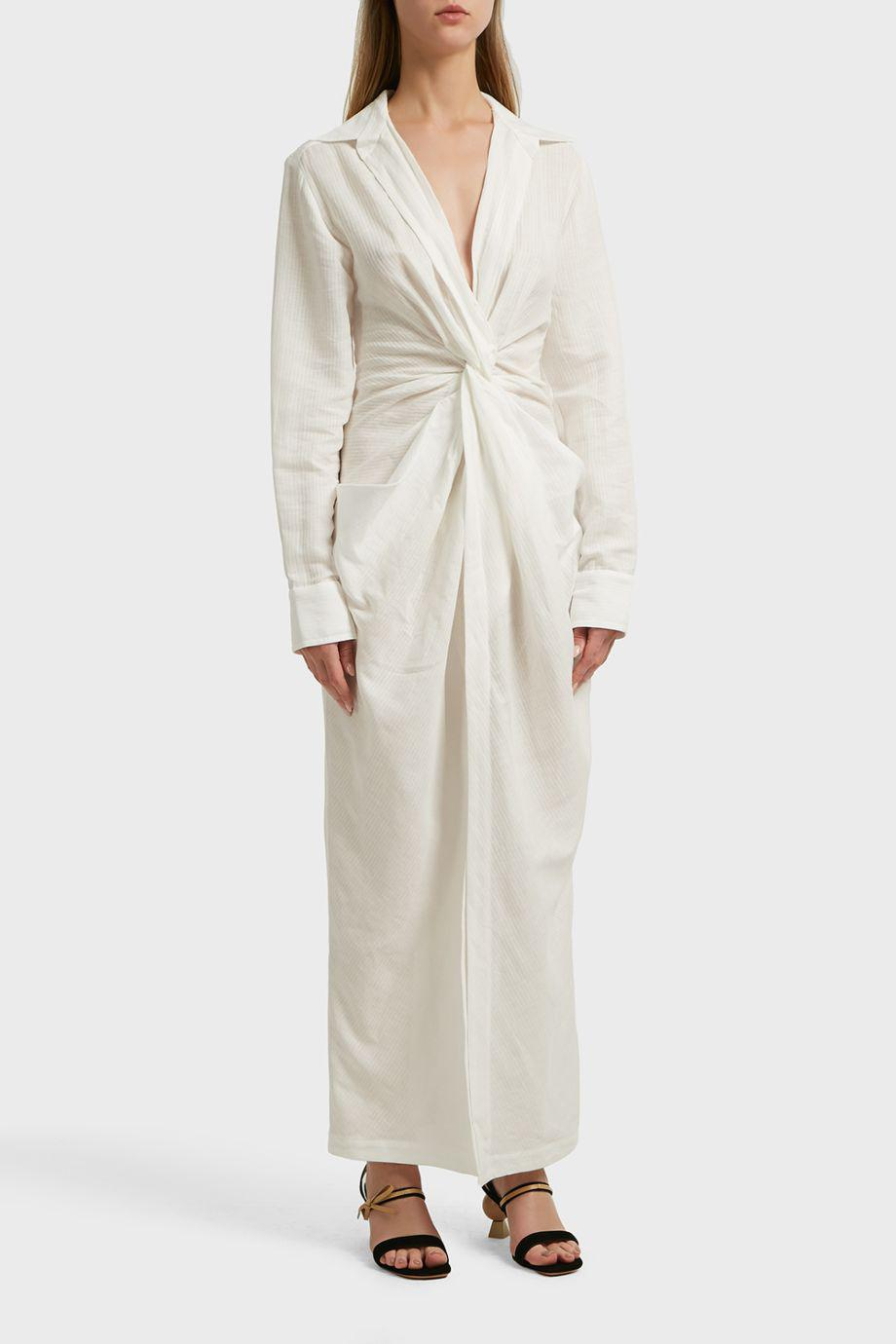 51249f2ee5 Jacquemus Bolso Linen And Cotton-blend Midi Dress