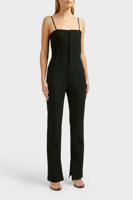 a6389f2eb59 Lyst - Alexander Wang Sleeveless Wool-blend Jumpsuit in Black