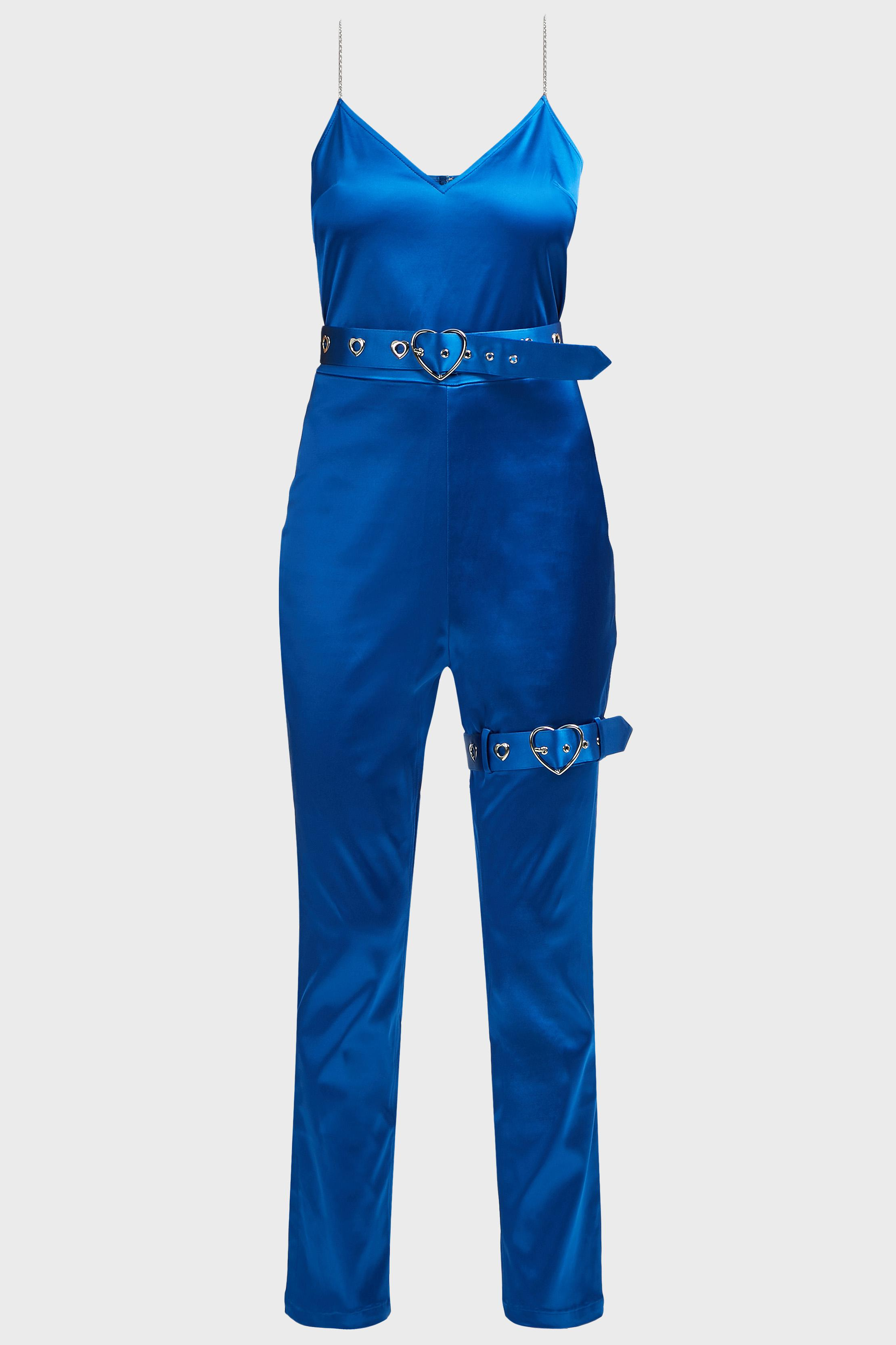 cf773c820705 Lyst - Adam Selman Cami Belted Jumpsuit in Blue