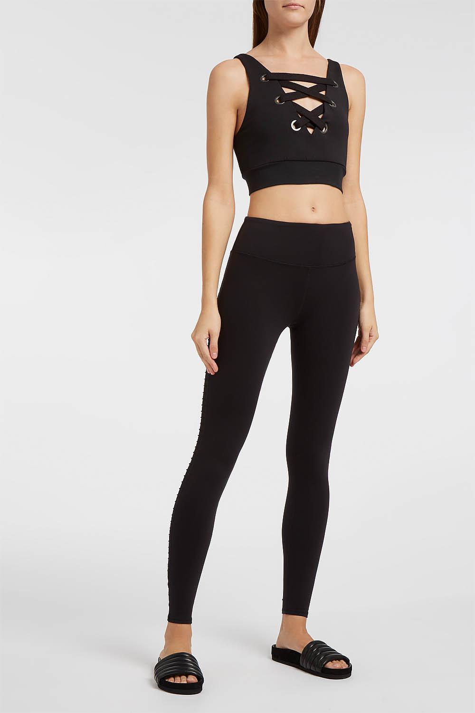 377019e04c8a6 Alo Yoga Luminous Mesh-panelled Stretch Leggings in Black - Lyst