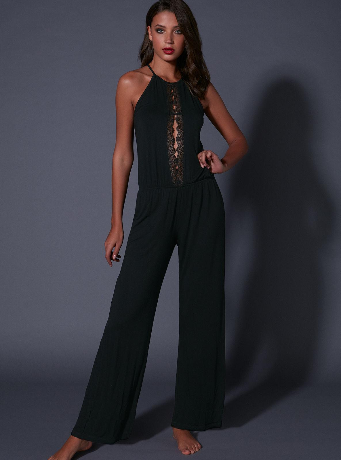 c0d88eb93f5 Lyst - Boux Avenue Rene Keyhole Jumpsuit in Black
