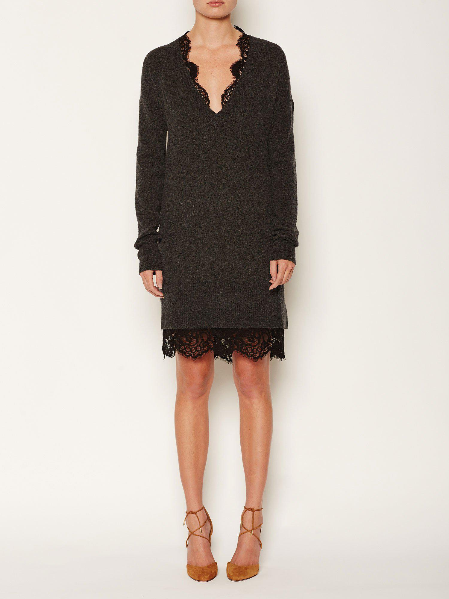 f9885aa2380 Brochu Walker The Lace Looker Sweater Dress in Black - Lyst